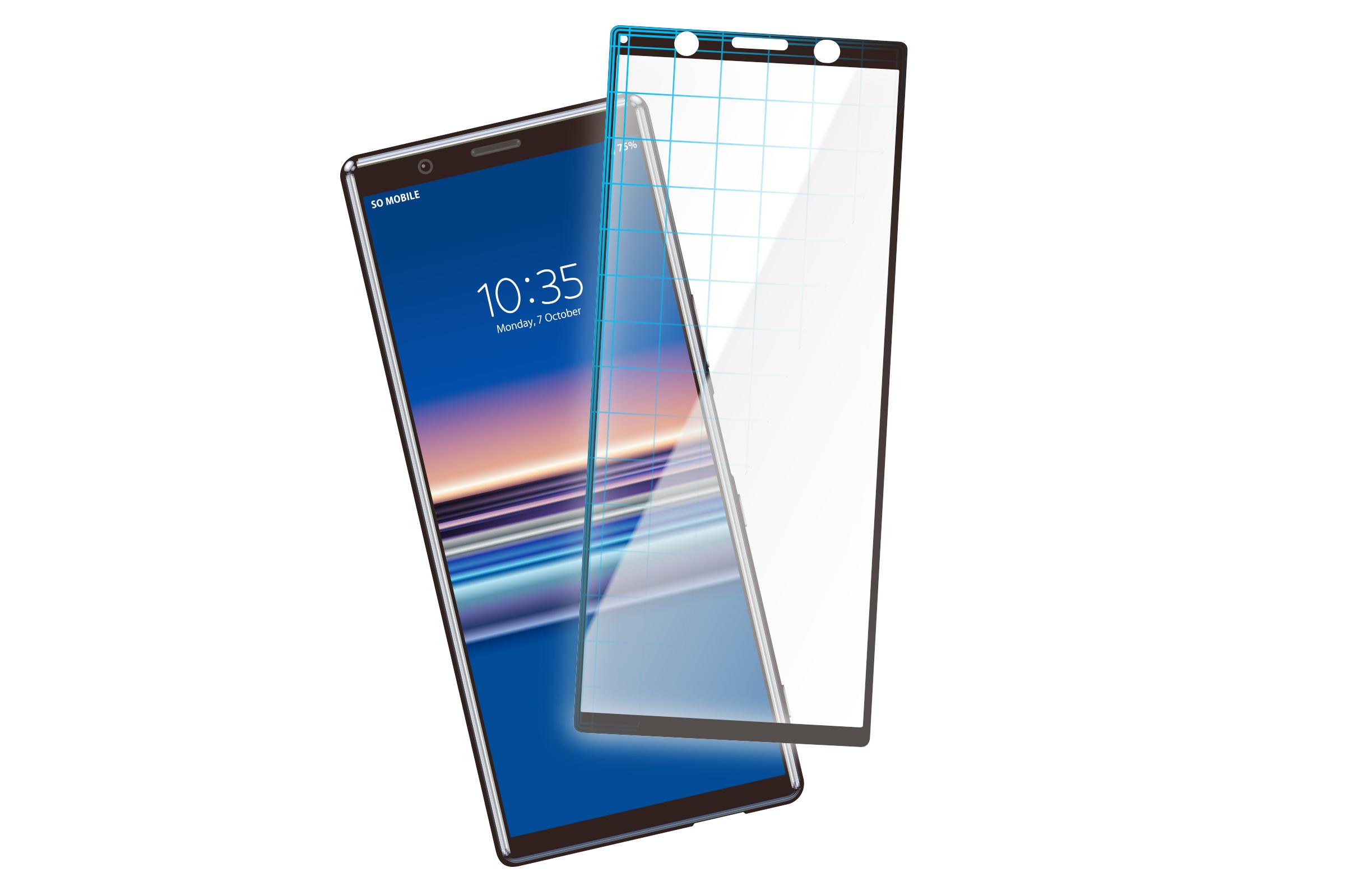 Xperia™ 5用 3D液晶全面保護ガラス